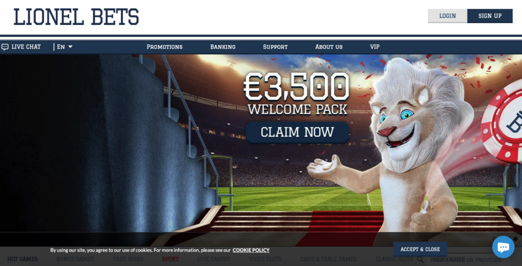 lionel bets casino review