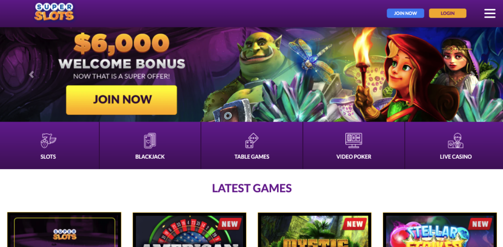 superslots casino review