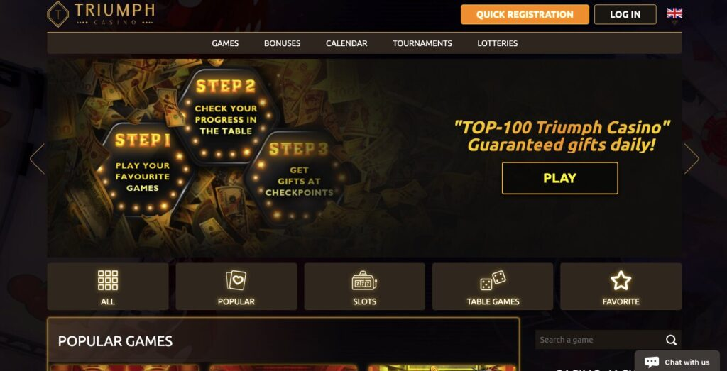 triumph casino review